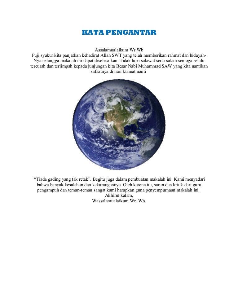 Contoh Makalah Geografi Hidrosfer Contoh Makalah Ipa