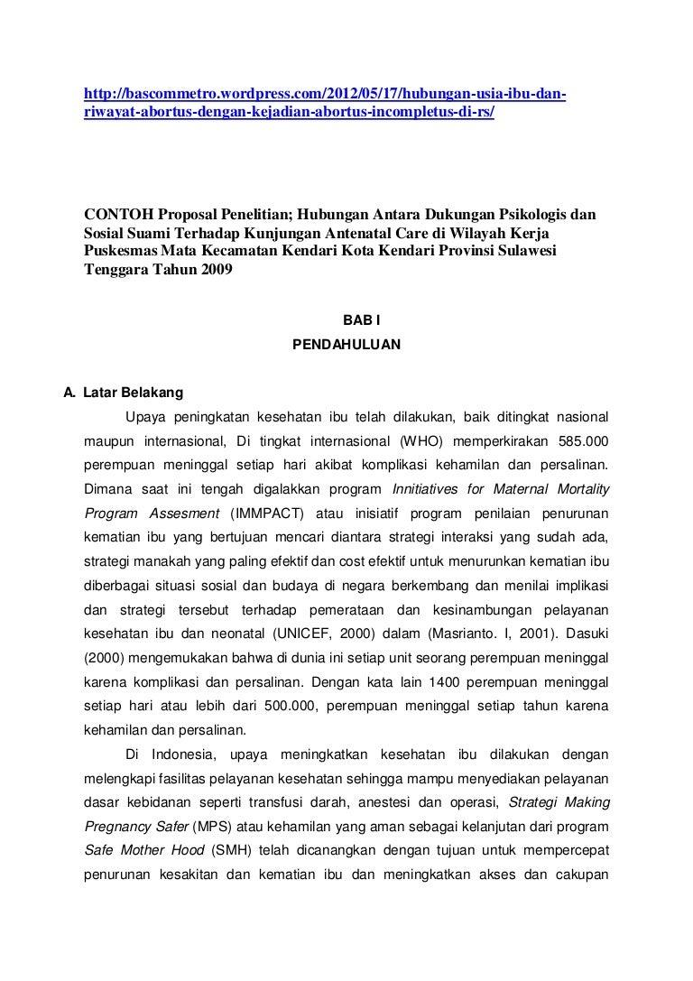 Contoh Proposal Penelitian Hub