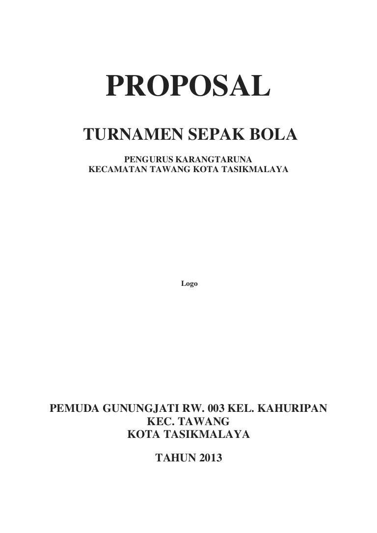 Contoh Proposal Turnamen Sepak Bola