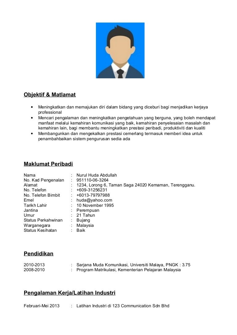Great Format Resume 2016 Bahasa Melayu Images - Example Resume and ...