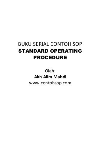 Contoh SOP Layanan Customer Toko Tetail