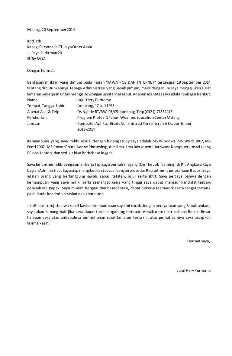 Format Surat Lamaran Kerja Umum Altin Northeastfitness Co