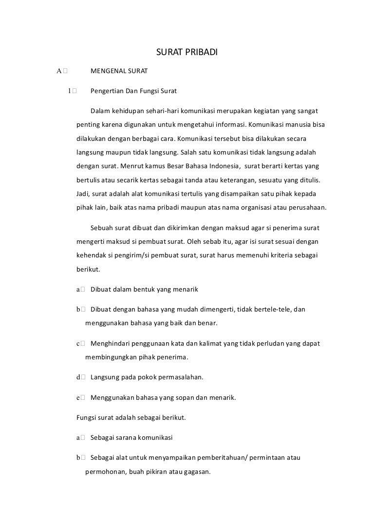 Contoh Surat Pribadi Hari Guru