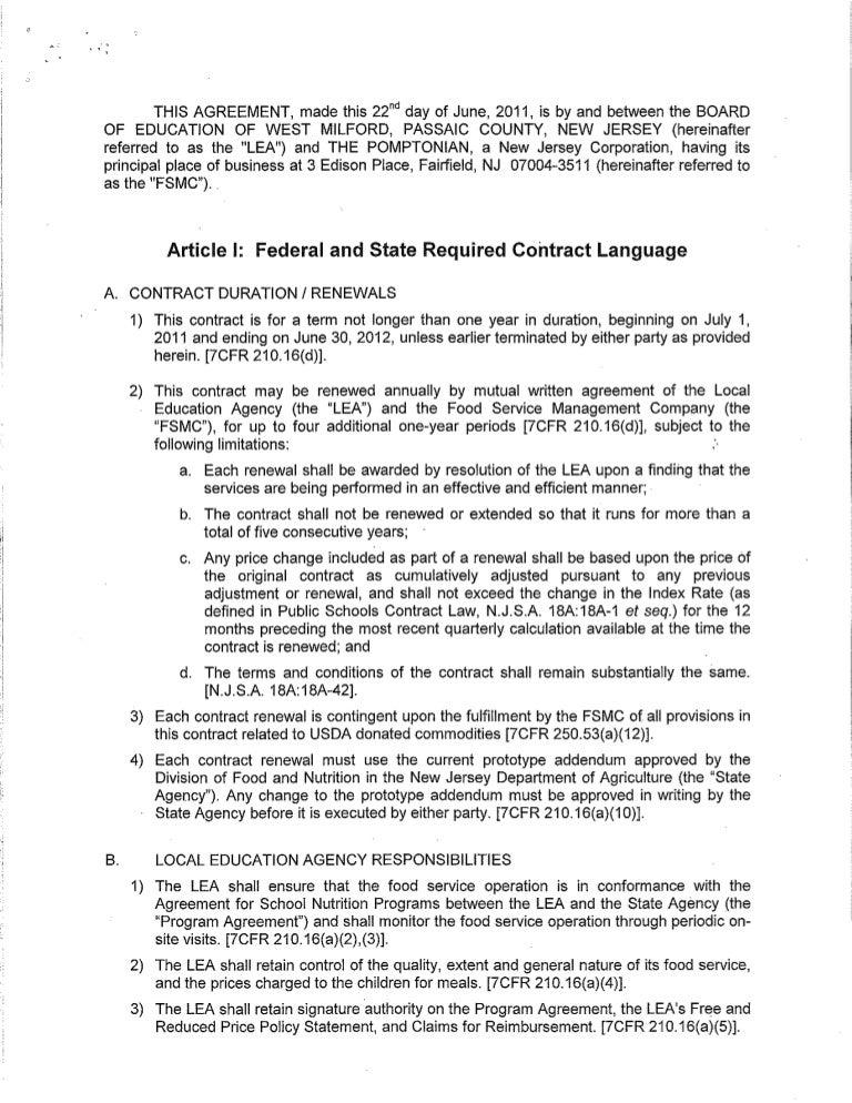 Contract Fsmc Years