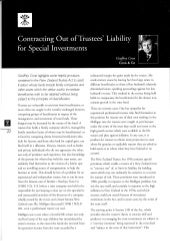 Contracting Out of Trustees Liability for Special Investments - Rothschild - February 2007