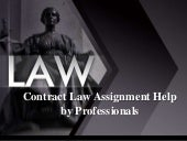Contract Law Assignment Help by Professionals