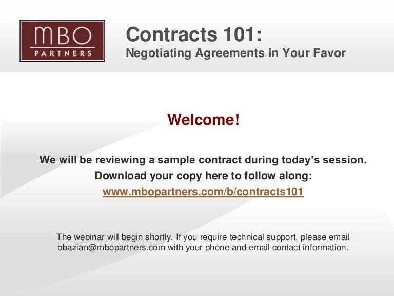 Consulting Agreements | Contracts 101 Negotiating Consulting Agreements In Your Favor
