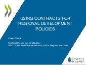 Using contracts for regional development policies