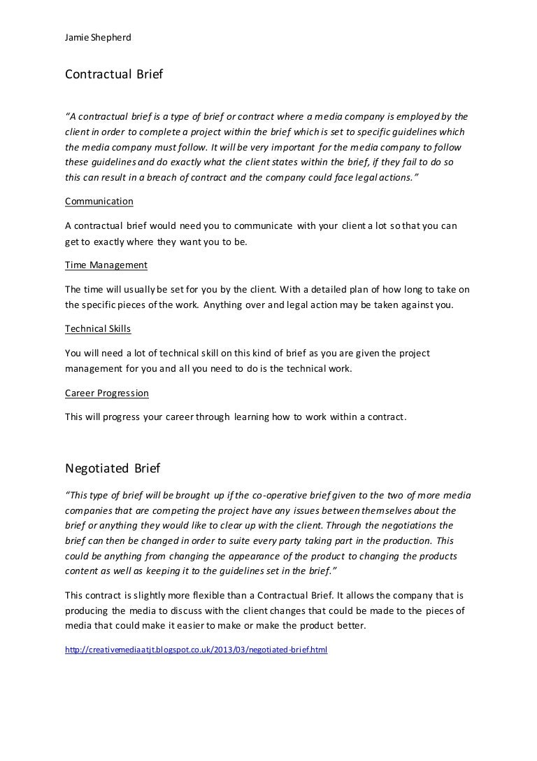 contractual brief