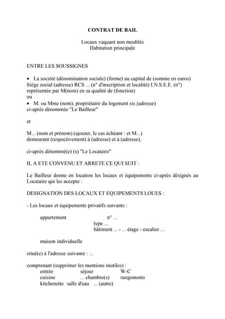 Modele Contrat Bail Maroc 1