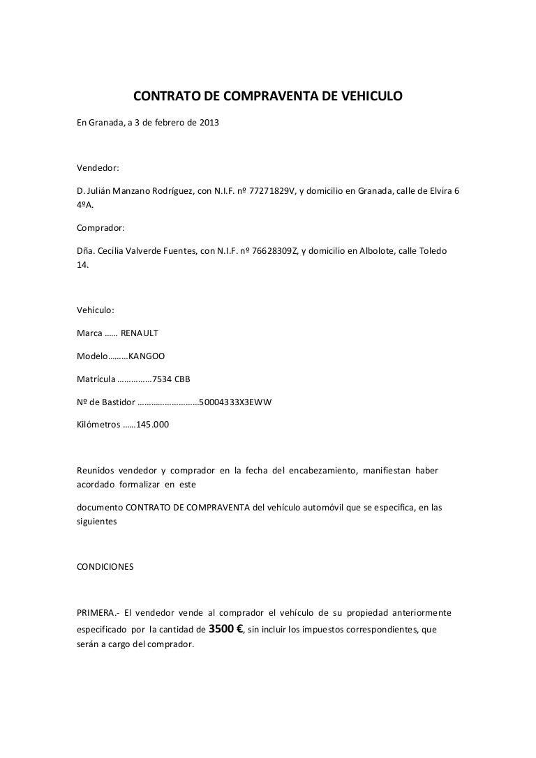 Plantilla Contrato - encantador plantilla de contrato de venta de ...