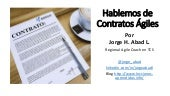 Hablemos de Contratos Ágiles - Agile Contracts (Reloaded)