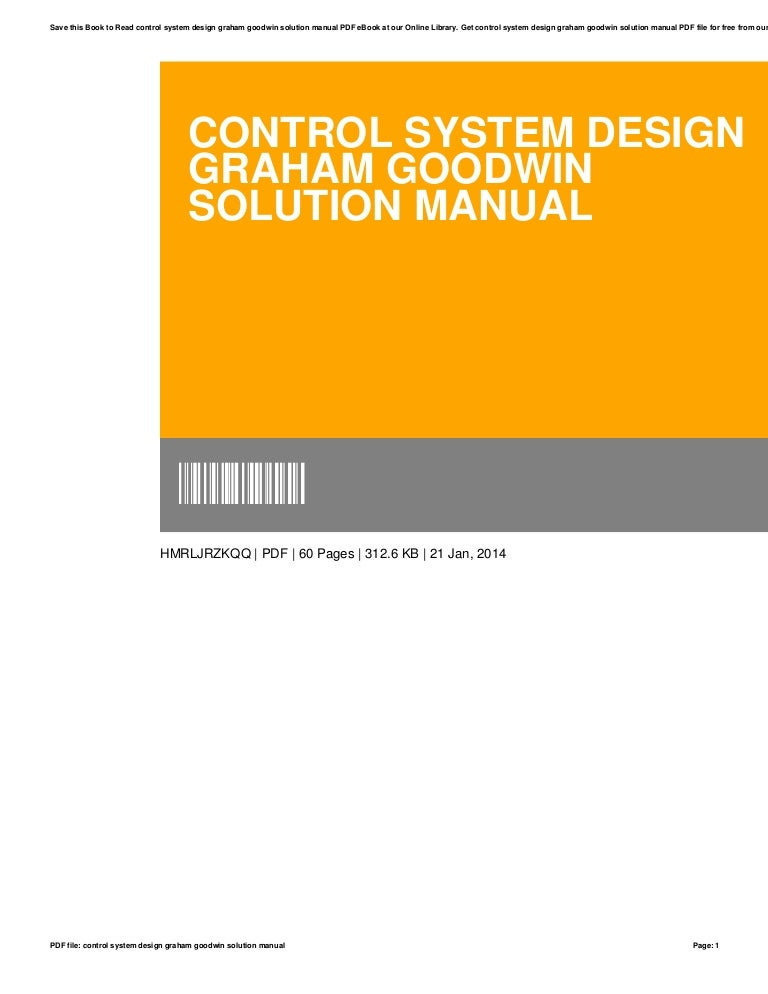 Control System Design Graham Goodwin Solution Manual