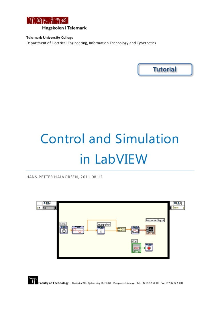 Control And Simulation In Lab View