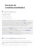 Controle de constitucionalidade i (questões)
