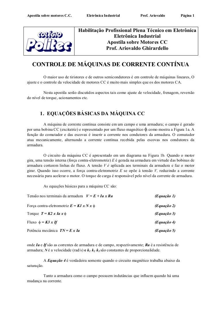 Circuito Cc : Accionamientos industriales monografias