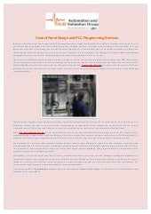 PLC Programming Services   Control Panel Design