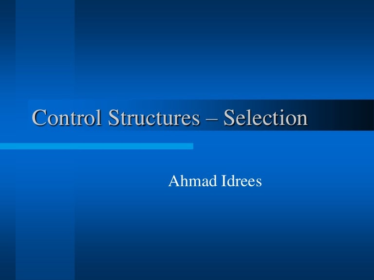 Control structures in C++ Programming Language