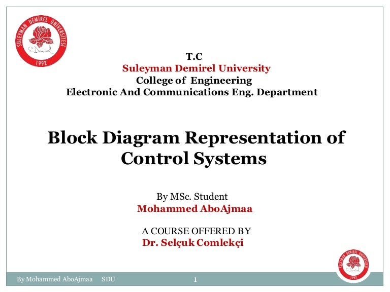 block diagram for control systems rh slideshare net