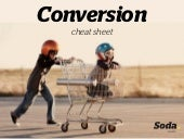 Conversion Cheat Sheet - how to improve your website & increase sales