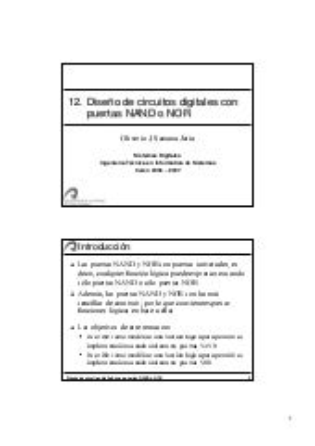 Conversión NAND y NOR