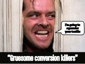 Conversion killers, part 1 – for a webinar with Optimizely EMEA