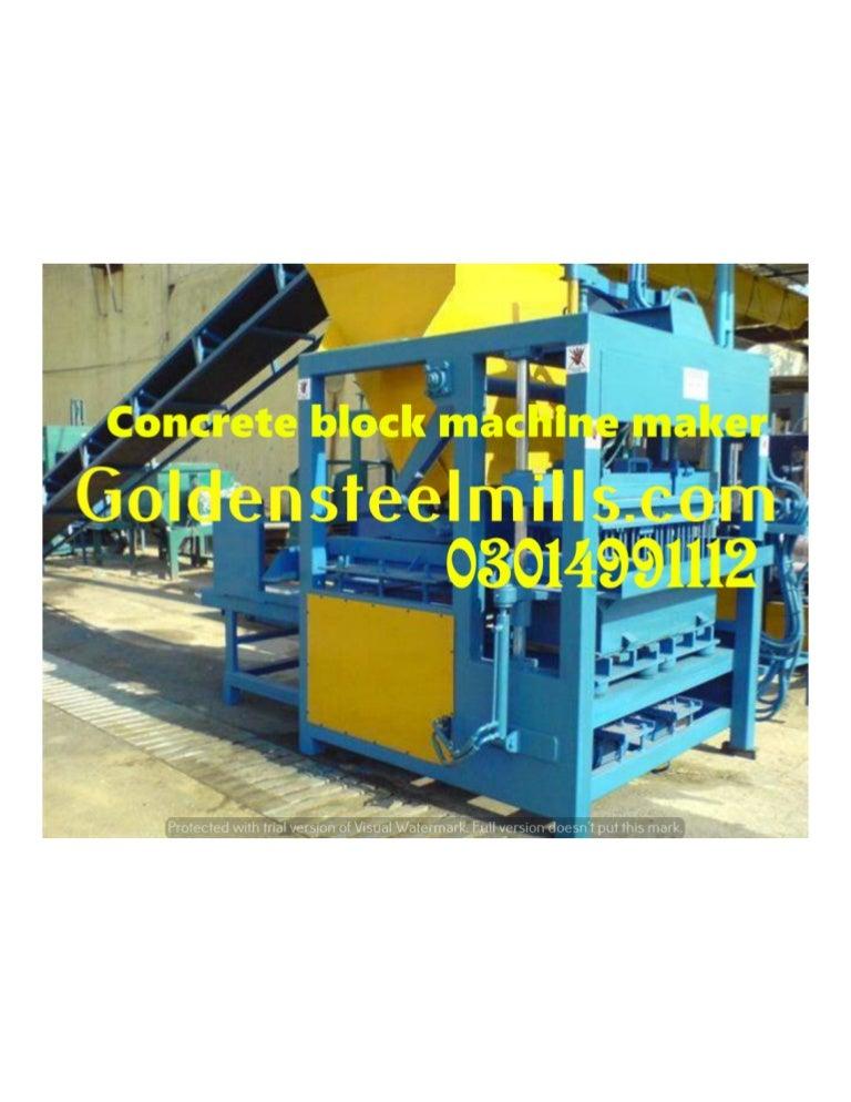 Tuff Tile Paver Concrete Block Making Machine Makers