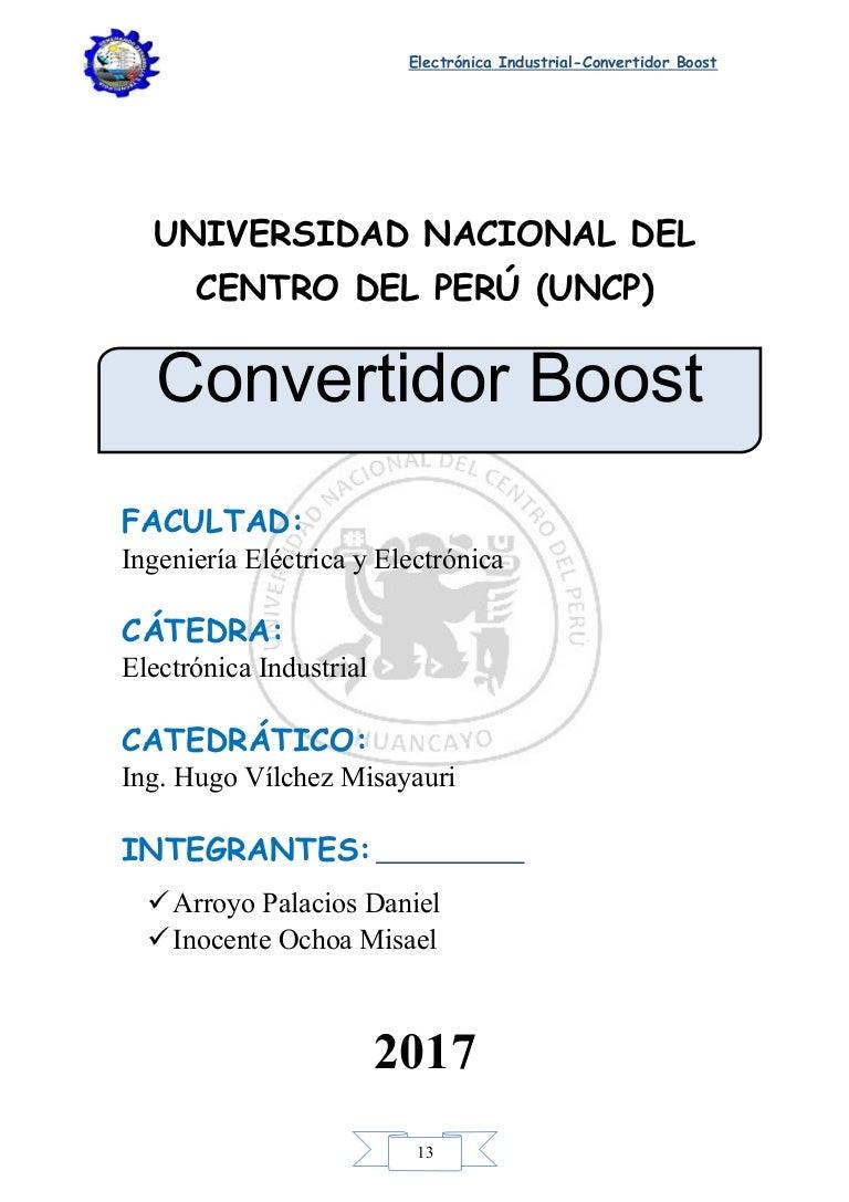 Circuito Boost : Convertidor boost
