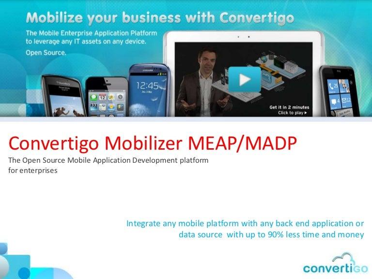 Convertigo Mobile Application Development platform for Enterprises