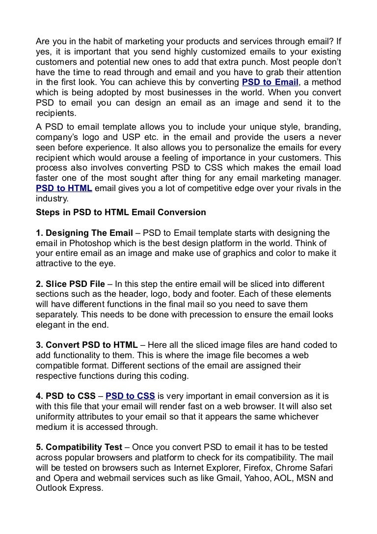 Convert Your PSDs into Accessible HTML Email Templates