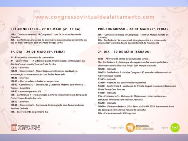 Memória do III Congresso Virtual de Aleitamento - #conviam3