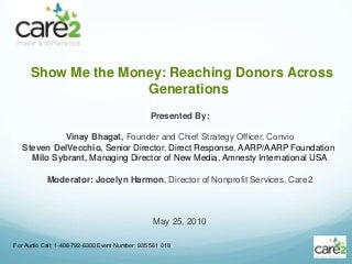 Show Me the Money: Reaching Donors Across Generations