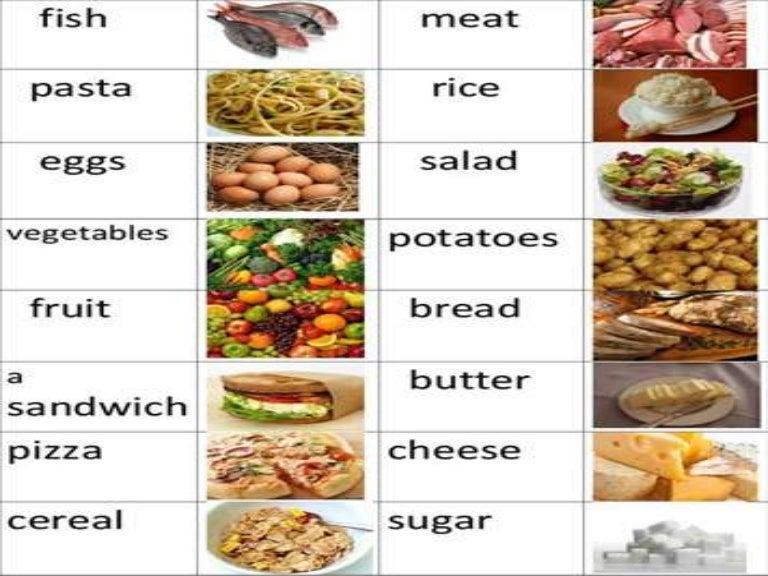 french food vocabulary list pdf
