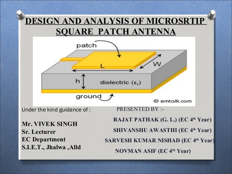 HFSS MICROSTRIP PATCH ANTENNA- ANALYSIS AND DESIGN