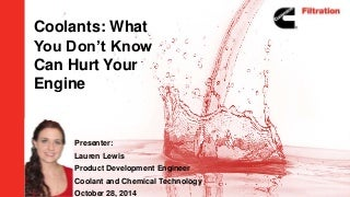 Coolants: What You Don't Know Can Hurt Your Engine