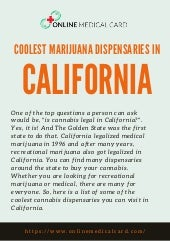 Coolest marijuana dispensaries in california