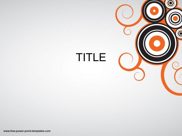 Cool Powerpoint Templates With Circles And Orange Effect Free Downl