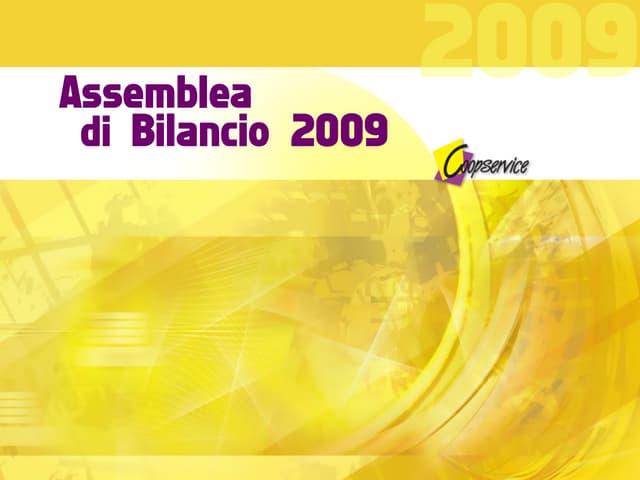 Coopservice - bilancio 2009