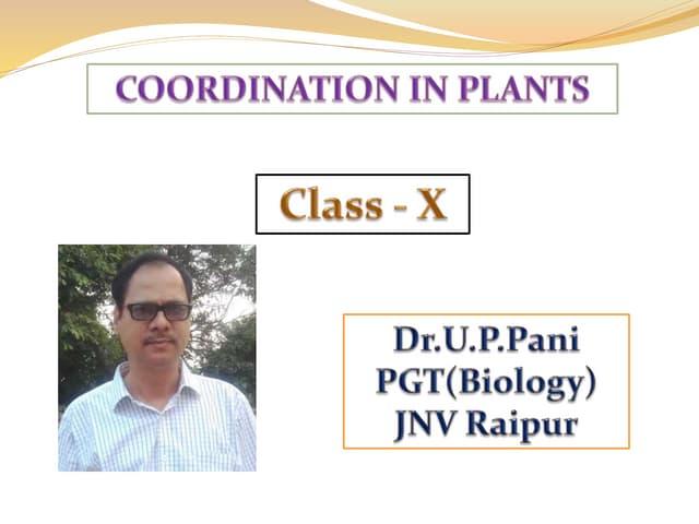 Coordination in plants