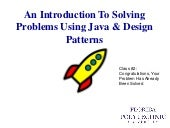 Introduction To Design Patterns  Class 3 What Is A Design Pattern