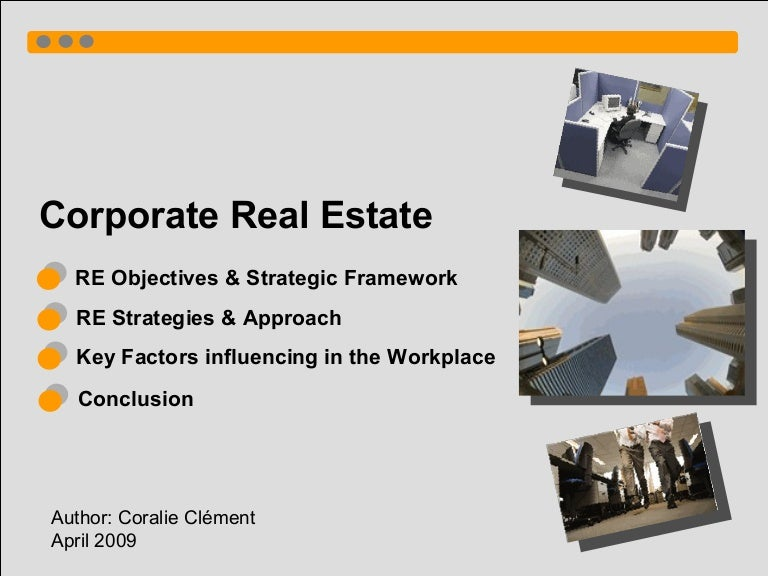 objectives of real estate