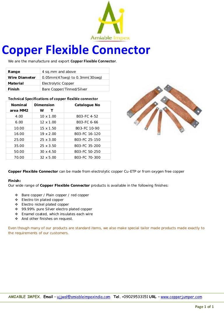 Copper flexible connector