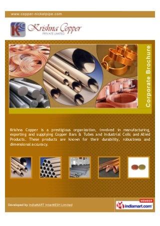 Krishna Copper Pvt. Ltd. (Copper Nickel), Mumbai, Cuni Tube C70600