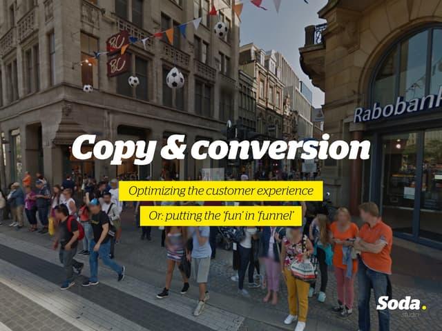 Copywriting & Conversion: Optimizing the Customer Experience