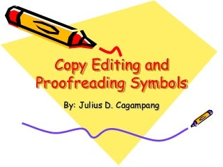 Proofreading symbols and abbreviations