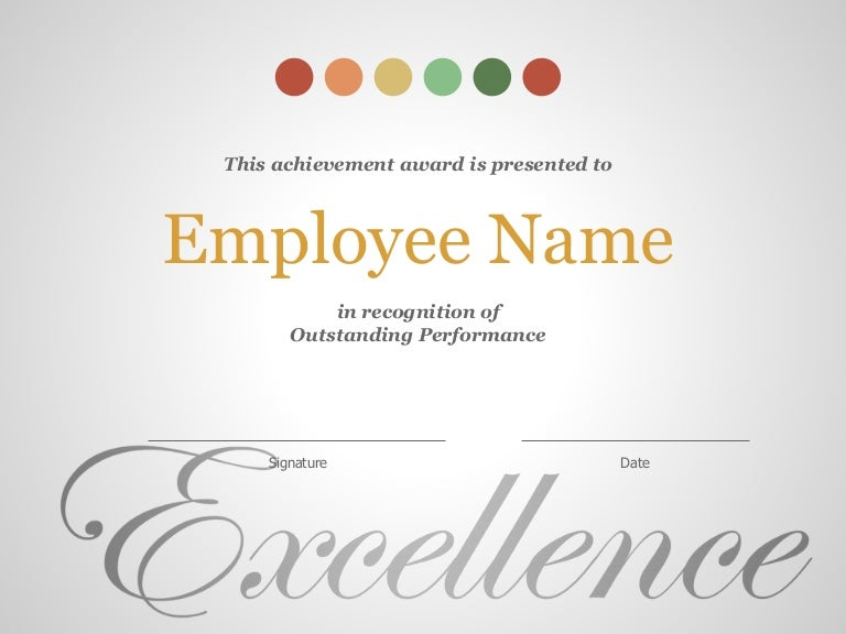 performance certificate for employees
