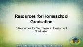 Resources for Homeschool Graduation