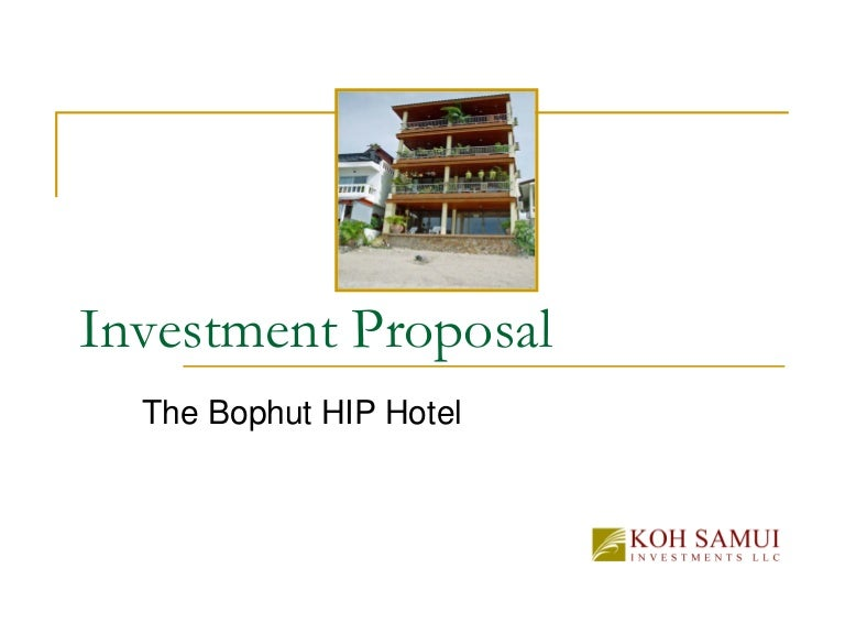 Of Investment Proposal The Bophut Building Boutique Hotel