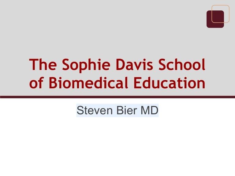 The Sophie Davis School Of Biomedical Education