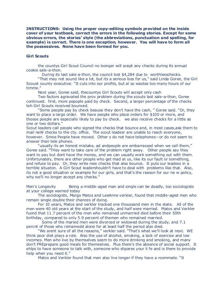 copy reading symbols and headline writing testmagicweb